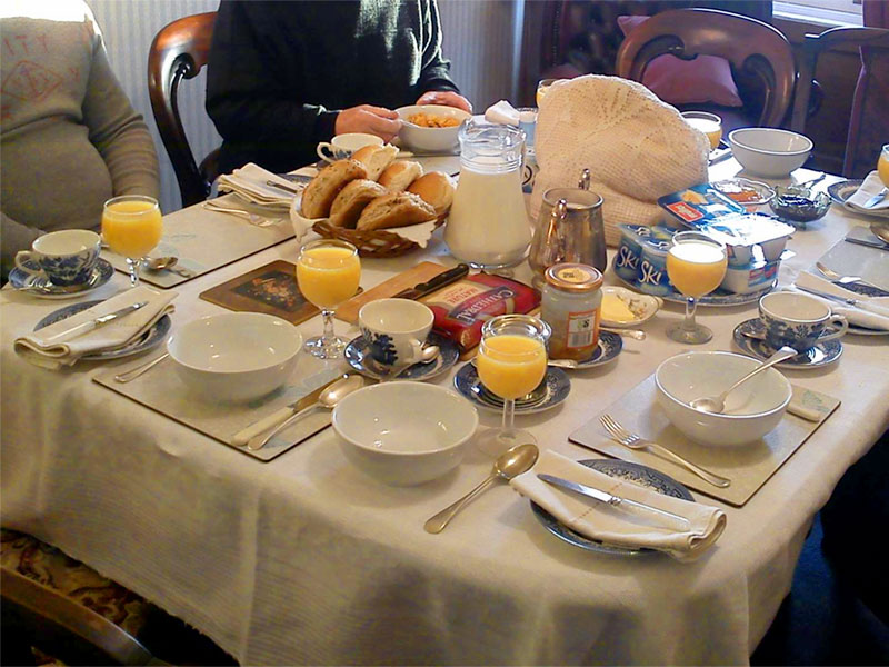 Breakfast at Newark Farm, bed and breakfast, Sanquhar, Dumfries & Galloway